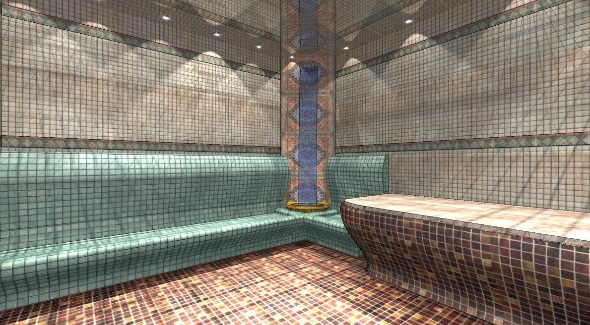 Дизайн интерьера турецкой бани в фотографиях