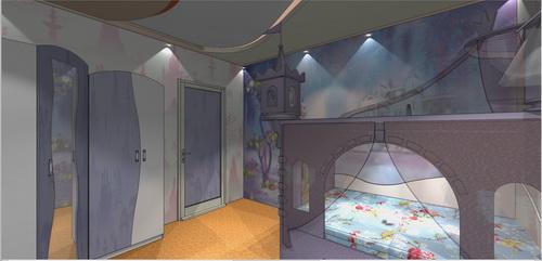 дизайн проект детской для девочки