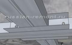 потолок из гипсокартона крепления
