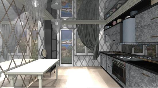 дизайн-проект кухни арт деко