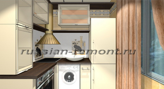 дизайн-проект кухни 5 м кв
