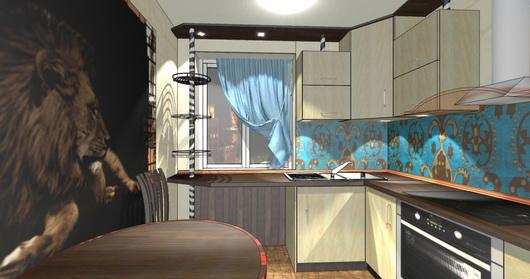 дизайн-проект кухни 7 м кв
