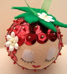 Новогодний шарик из пенопласта своими руками