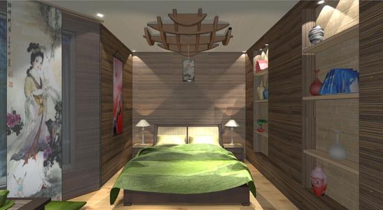 дизайн-проект спальни в японском стиле