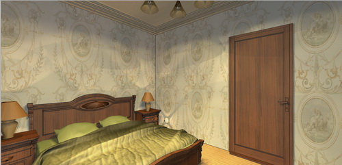 дизайн проект спальни в классическом стиле