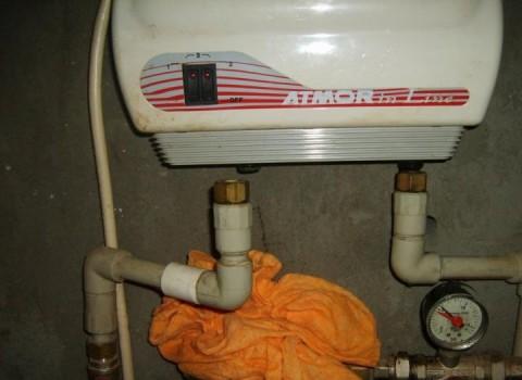 проточный водонагреватель: установка