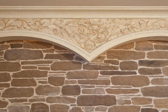 Облицовка природным камнем - отличное решение для стен и арок