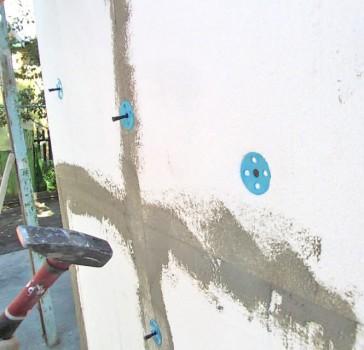Наружное утепление стен пенопластом