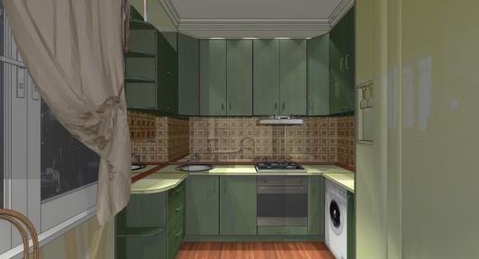 Дизайн интерьера кухни в 9 метров