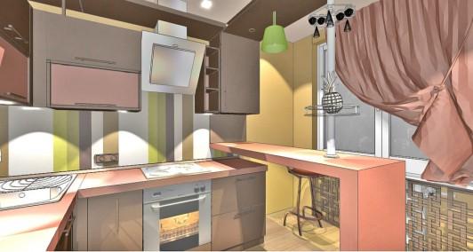 Интерьер кухни в шоколоднам оттенке