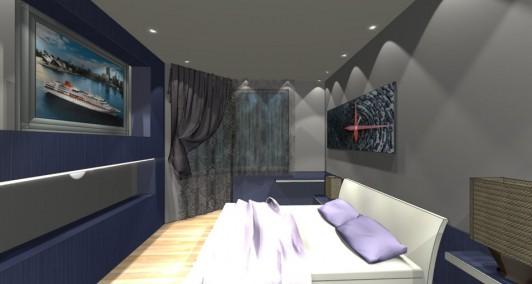 Дизайн спальни в доме серии П44Т