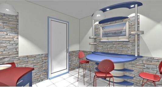 Кухня 10 кв.м. в стиле хай тек