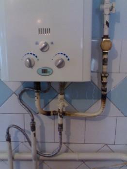 подключение газовой колонки к газопроводу