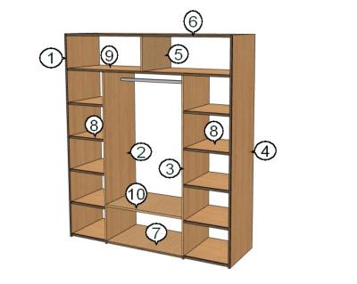 Как сделать встроенный шкаф купе своими руками видео