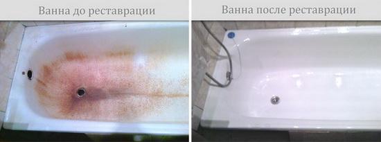 Реставрация старой ванны Жидким Акрилом от «ЭкоВанна»