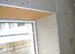 монтаж откосов на окна из гипсокартона