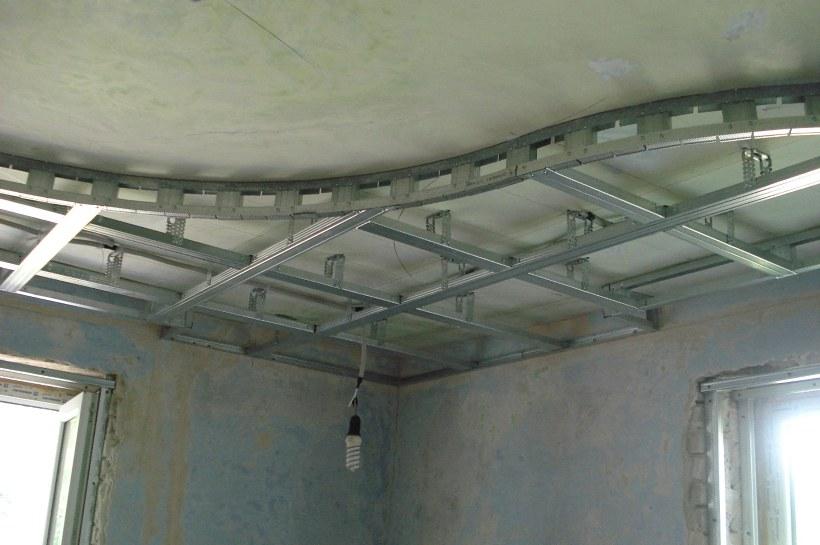Двухуровневый потолок из гкл своими руками