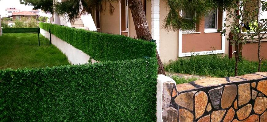 Забор из искусственной травы